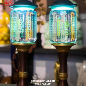 đèn tâm kinh trang trí bàn thờ Phật đẹp