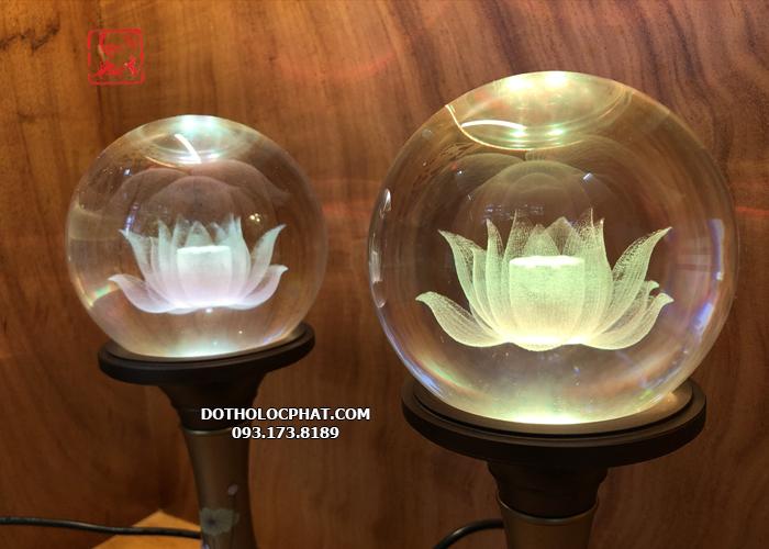 đèn thờ cúng bằng pha lê đẹp