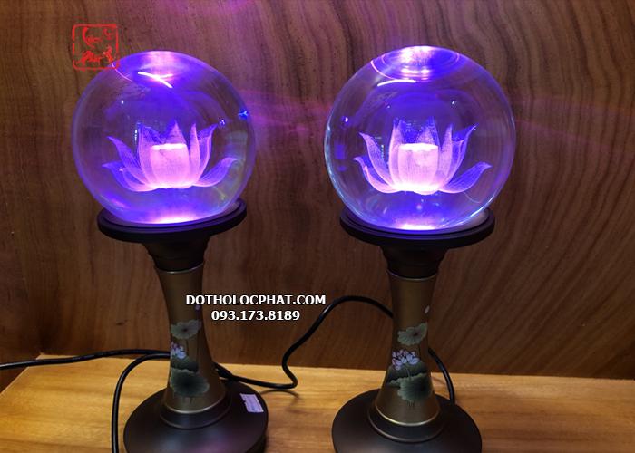 đèn thờ phật bằng đồng đẹp