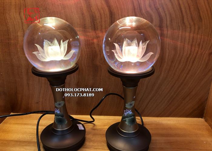 thỉnh đèn thờ cúng bằng pha lê đẹp nhất