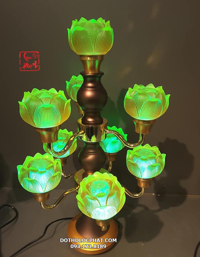 đèn trang trí bàn thờ phật bằng điện đẹp nhất