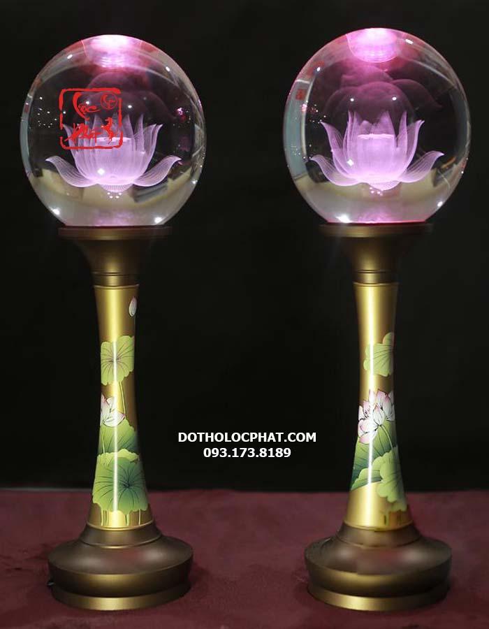 đèn trang trí bàn thờ Phật thân đồng đẹp