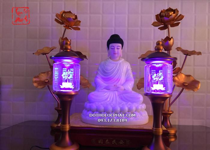 đèn trang trí bàn thờ phật đổi màu đẹp
