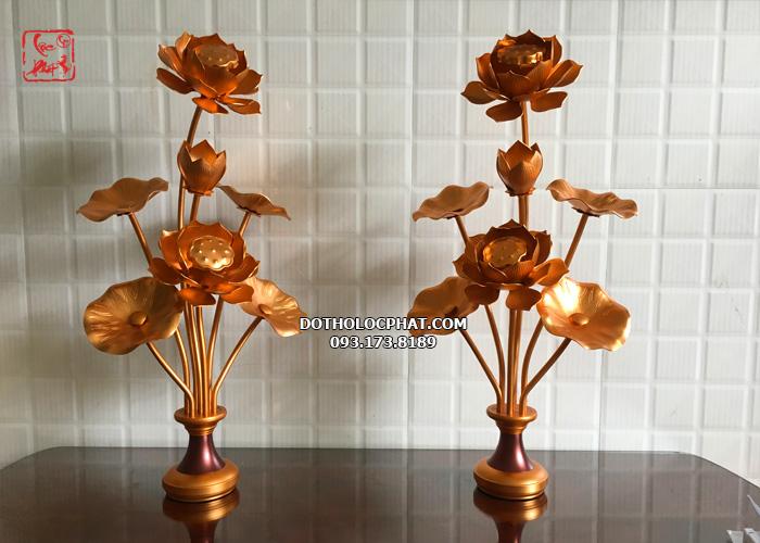 đôi lọ hoa sen thờ phật bằng đồng thờ phật đẹp nhất