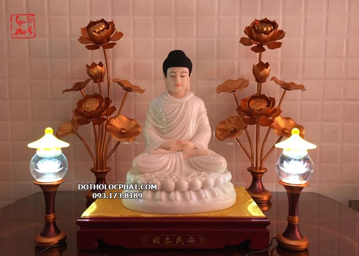 đôi lọ hoa sen bằng đồng thờ Phật đẹp