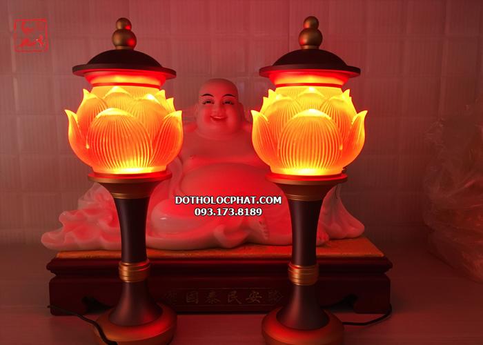 đèn lưu luy trang trí bàn thờ phật đổi màu đẹp