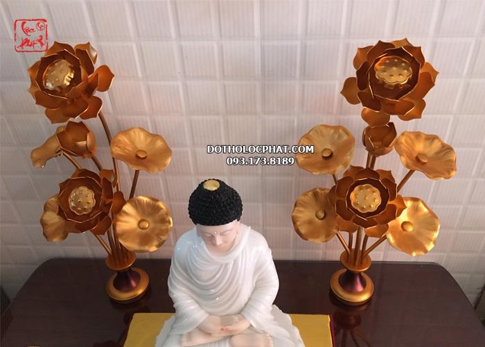 mẫu hoa sen đồng thờ Phật đẹp nhất