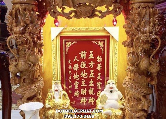 bài vị thần tài chữ mạ vàng đẹp
