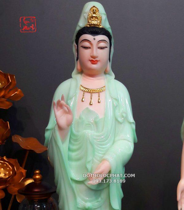 tượng phật màu xanh ngọc đẹp