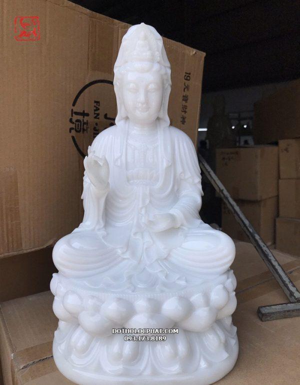 tượng quan âm trắng bạch ngọc đẹp tại hcm