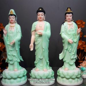 mẫu tượng tây phương tam thánh xanh ngọc đẹp nhất hcm