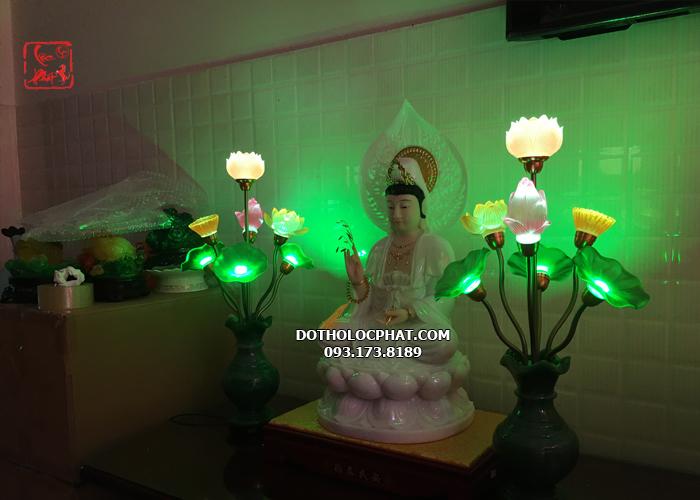 mua đèn trang trí bàn thờ phật bằng ngọc ở đâu
