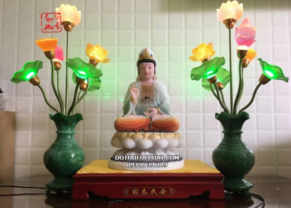 đèn bình ngọc trang trí bàn thờ phật đẹp nhất