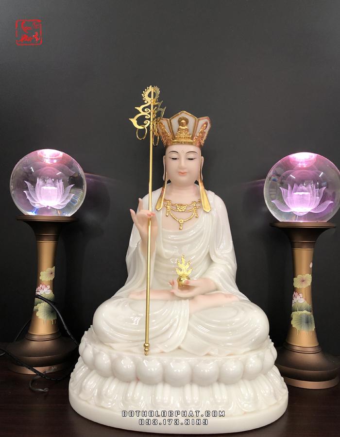tượng địa tạng vương bồ tát bằng đá trắng đẹp tại hồ chí minh