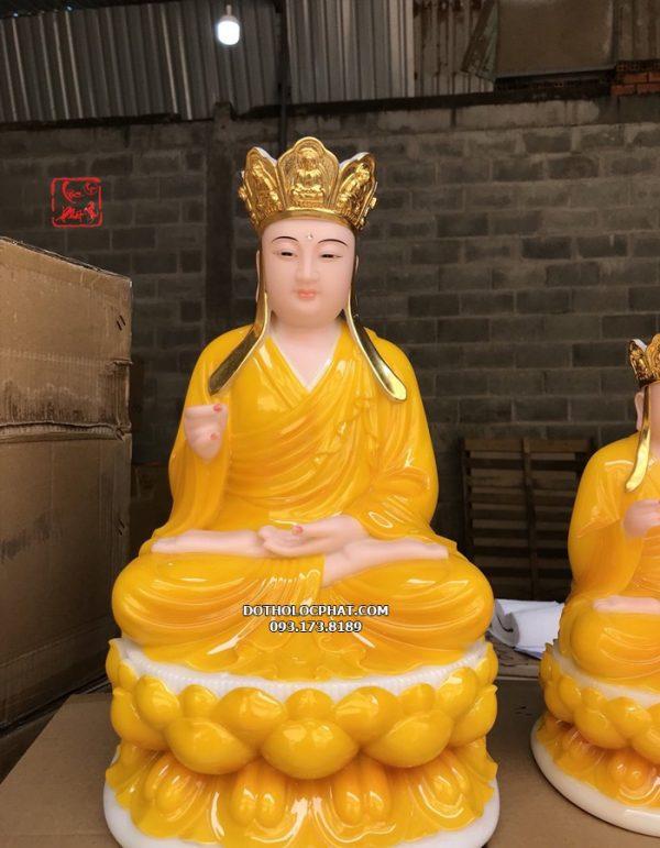 tượng địa tạng vương màu vàng hổ phách đẹp nhất