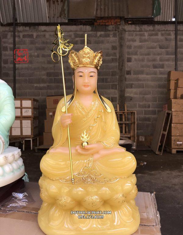 tượng địa tạng vương bằng đá thạch anh đẹp