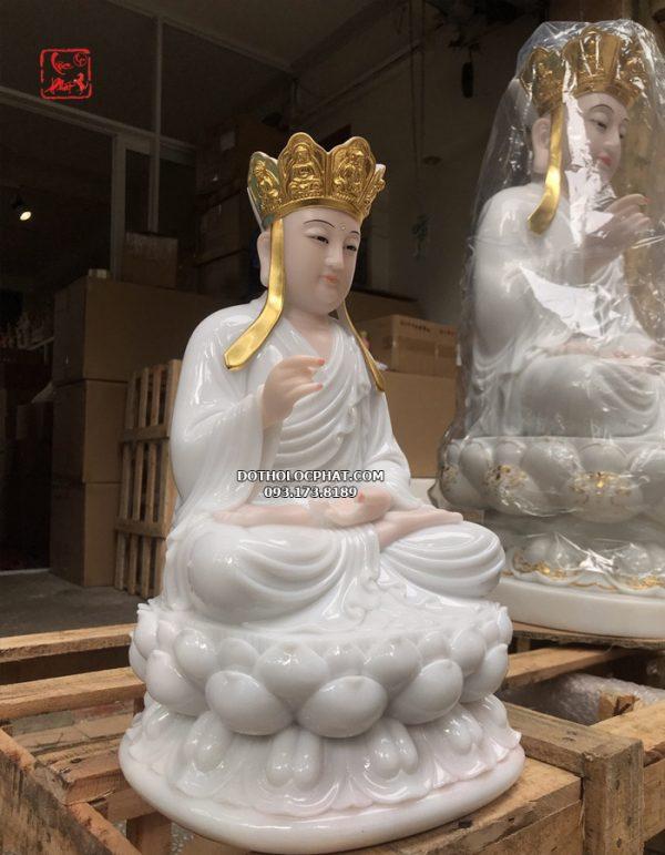 tượng địa tạng vương bồ tát bằng đá trắng