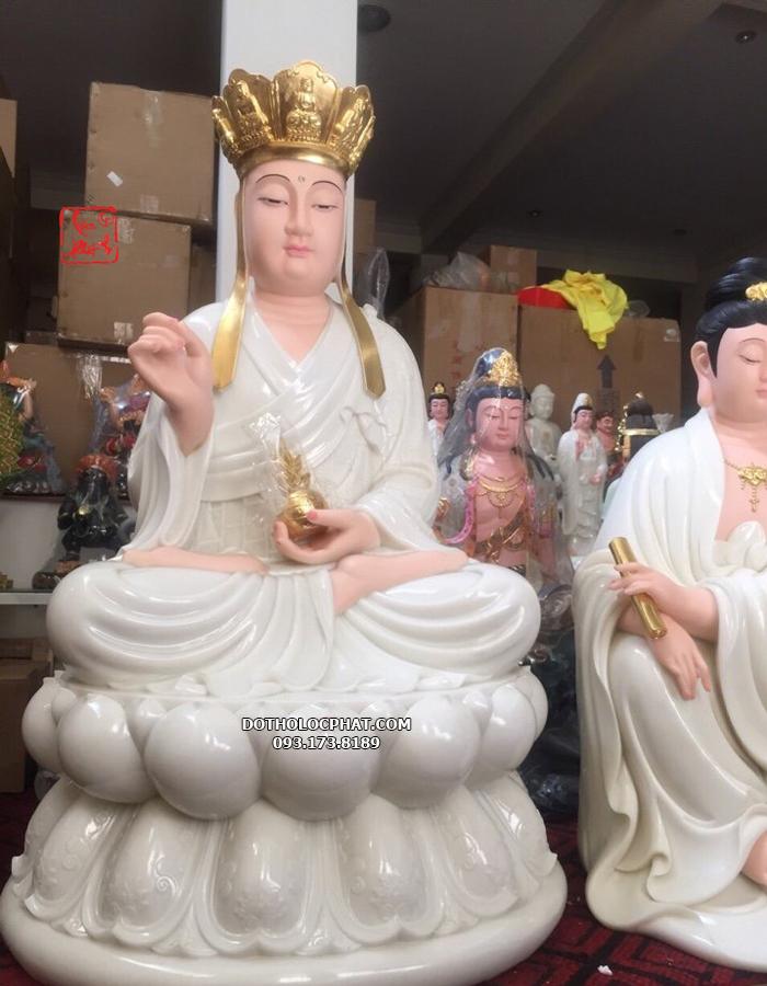 tượng địa tạng vương ngồi bằng đá