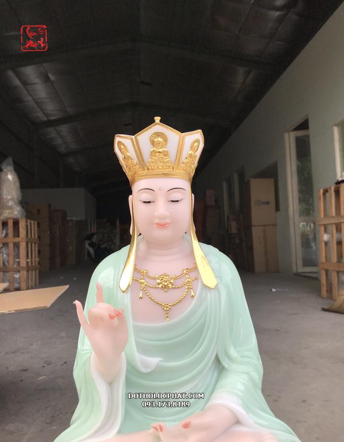 tượng địa tạng ngồi đế to xanh ngọc đẹp nhất