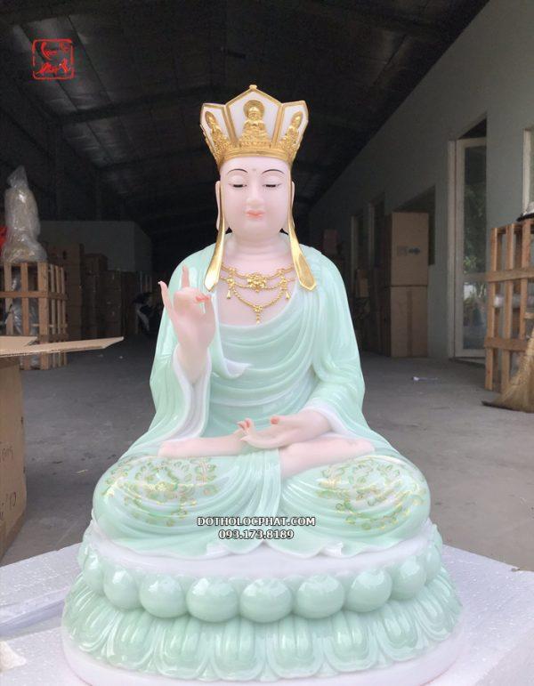 tượng địa tạng xanh ngọc vẽ 3d đẹp