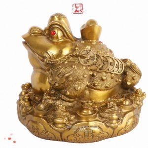 cóc ngậm tiền bằng đồng vàng đẹp nhất