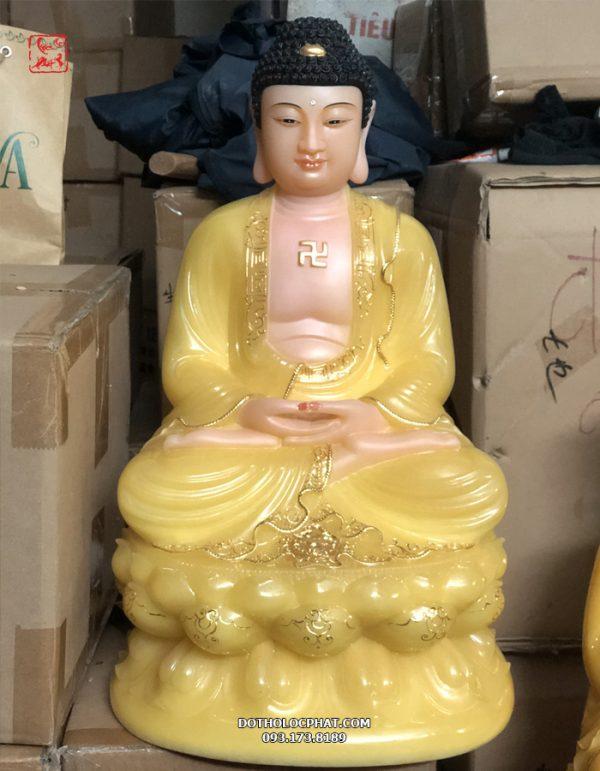 mua tượng phật a di đà màu vàng tại lộc phát