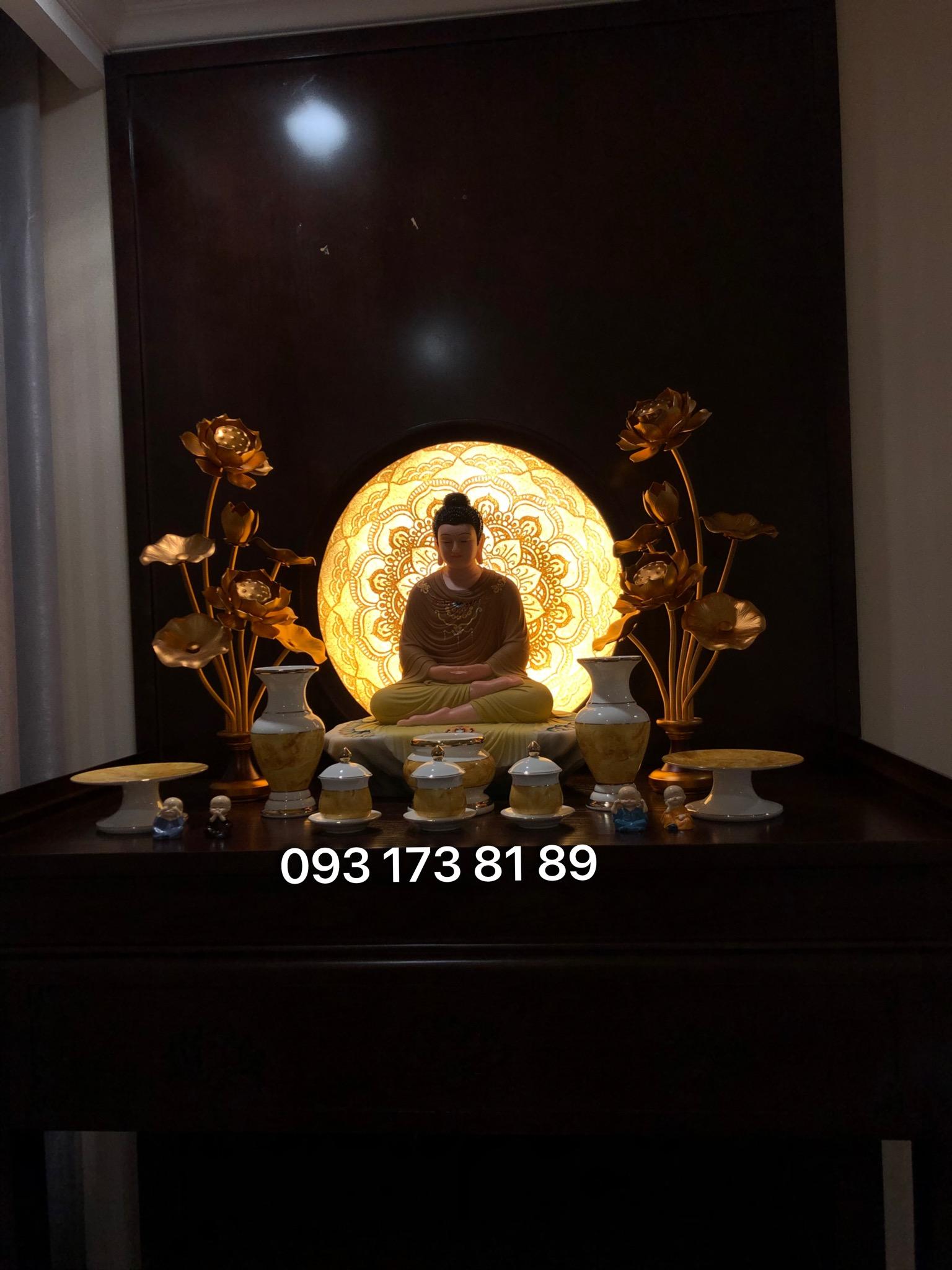 cách bài trí bàn thờ Phật đẹp