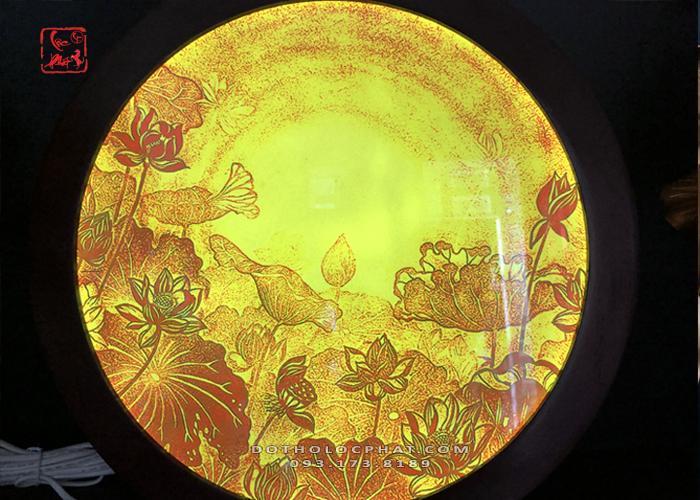 hào quang phật trúc chỉ sen vàng đẹp