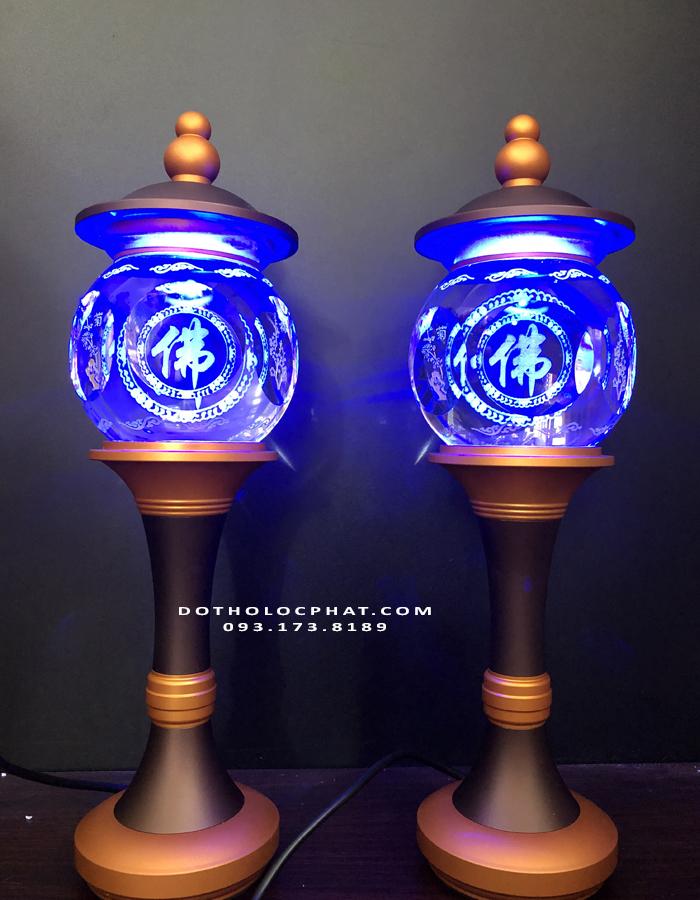 đèn trang trí bàn thờ Phật nên chọn chữ Phật
