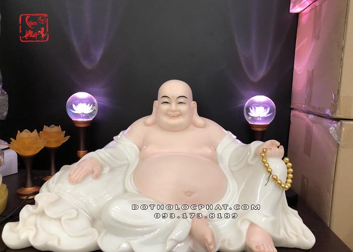 tượng phật di lặc bằng bột đá trắng đẹp nhất