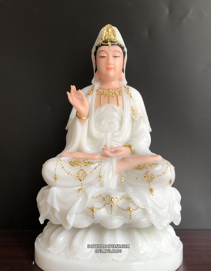 tượng mẹ quan thế âm bằng đá trắng đẹp nhất