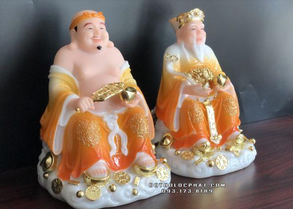 tượng ông địa thần tài màu cẩm thạch vàng giá thỉnh tốt nhất hcm
