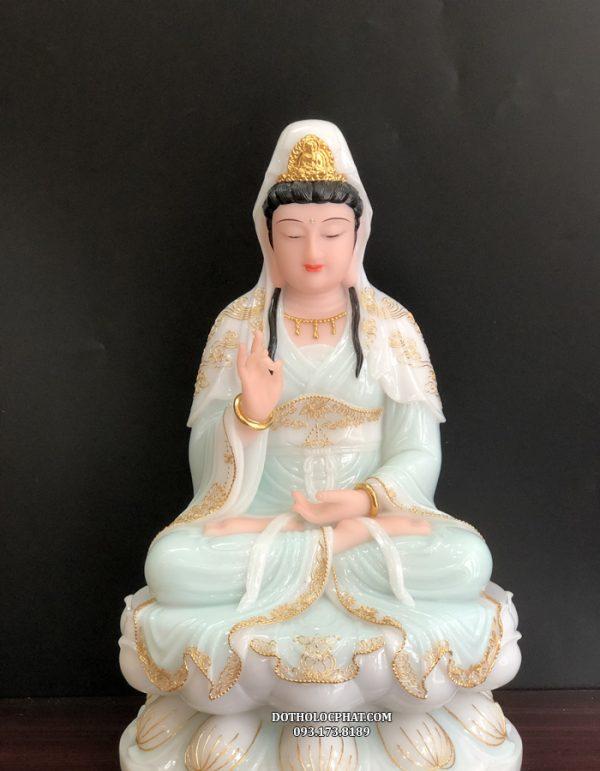 tượng phật bà quan thế âm màu xanh ngọc đẹp nhất hcm