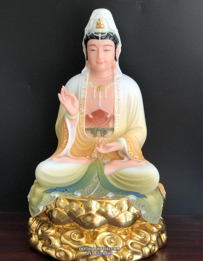 Tượng Phật Bà Quan Thế  m QABT - 044 hiện có sẵn tại kho của Đồ Thờ Lộc Phát, quý khách có thể liên hệ trực tiếp qua số điện thoại 0931738189 để được tư vấn chi tiết