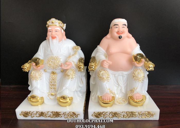 tượng ông địa thần tài bằng đá trắng đẹp giá rẻ nhất