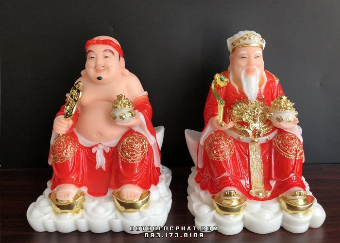 tượng ông địa thần tài bằng đá đỏ giá thỉnh rẻ nhất