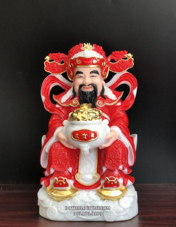 tượng ông thần tiền bằng đá đỏ giá rẻ nhất