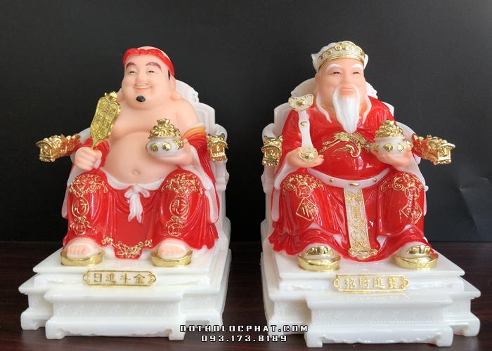 tượng ông địa thần tài bằng đá đỏ ghế rồng đẹp nhất hà nội