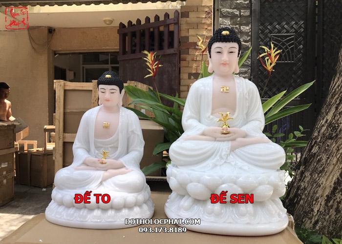 Tượng Phật Dược Sư đế to và tượng Phật Dược Sư đế sen