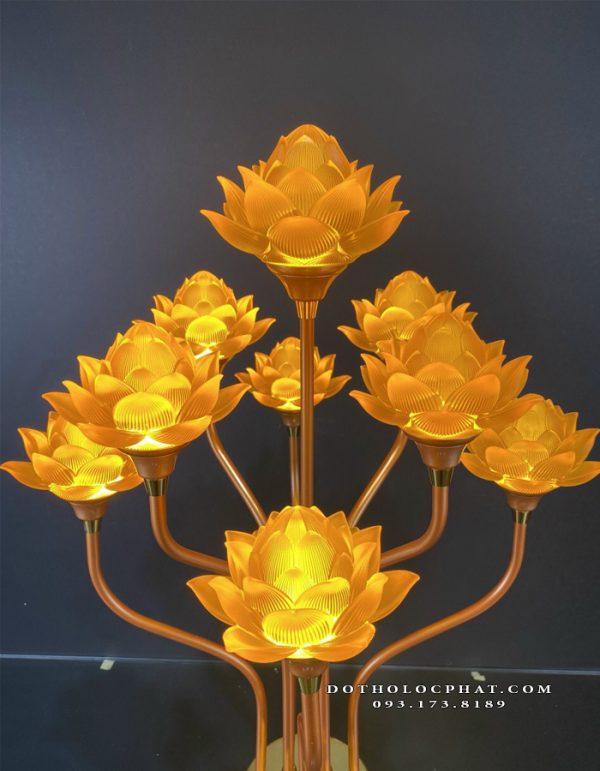 đèn thủy lưu ly thờ phật 7 bông đẹp nhất