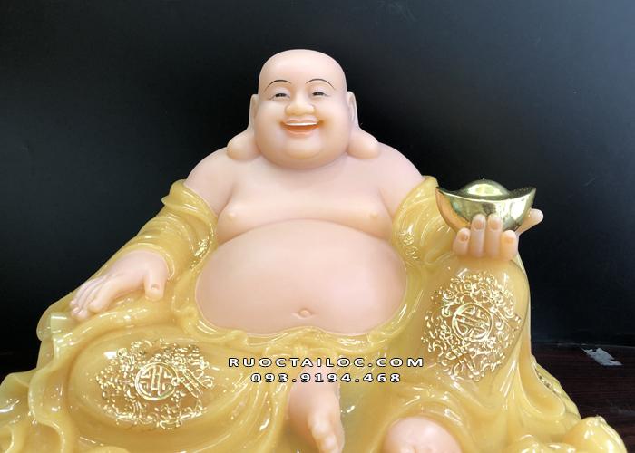 tượng phật di lặc thạch anh bằng đá màu vàng ngọc đẹp