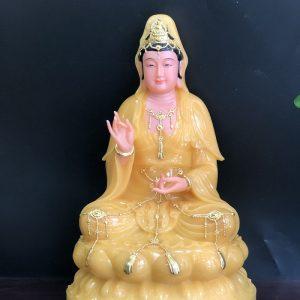 tượng quan âm bằng đá thạch anh vàng ngọc đẹp nhất hcm