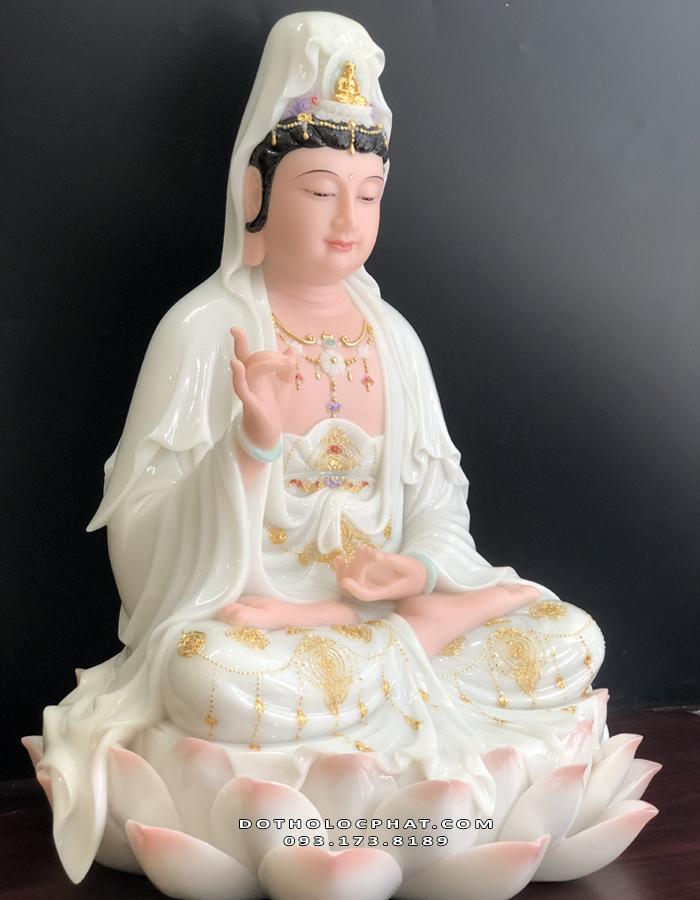 tượng quan âm hoa sen cao 50cm đẹp nhất