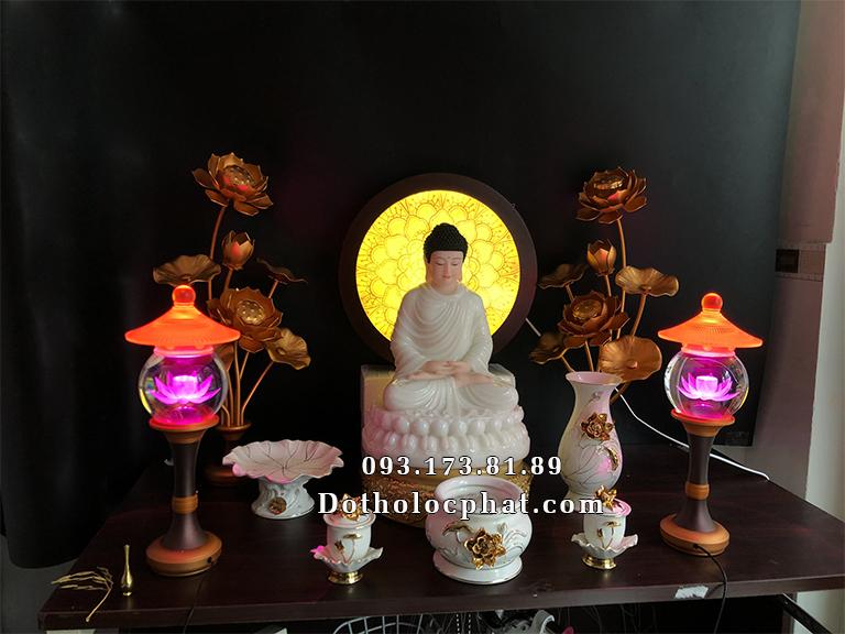 Soạn tượng Thích Ca cao 40cm và trọn bộ đồ thờ cúng về Lâm đồng
