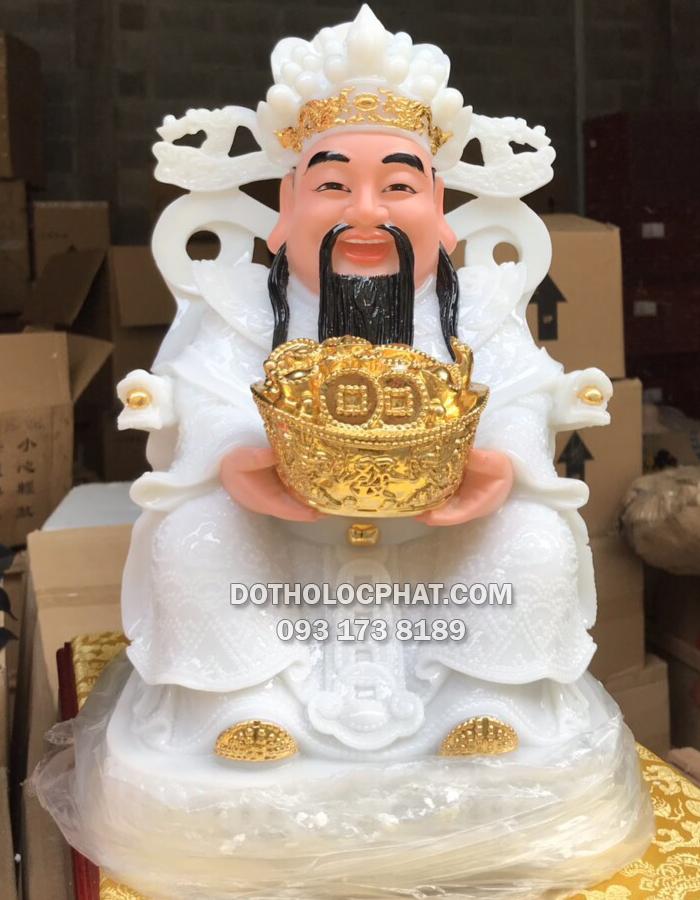 Tượng ông Thần Tiền - Thần Phát bằng đá trắng